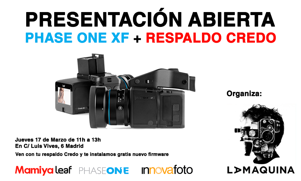 Presentación de la Phase One XF para respaldos Mamiya Leaf Credo en La Máquina