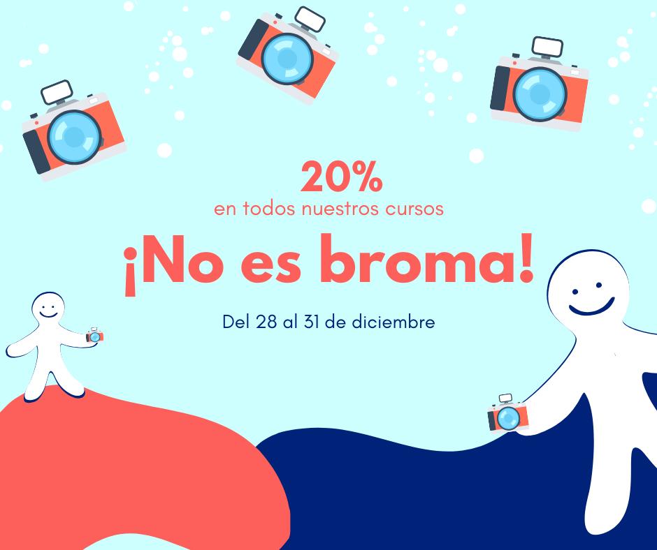 ¡No es broma! 20% por el Día de los Inocentes
